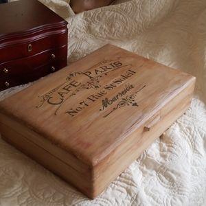 Handpainted Silerware Box or Jewelry Box